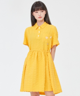[TARGETTO] チェックシャーリングワンピース / CHECK SHIRRING ONEPIECE