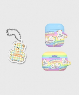 [EARPEARP] [KONVINI限定] ベビーメリーairpodsケース(ハード)&キーリングセット / Baby merry(air pods)+Baby merry(Keyring)