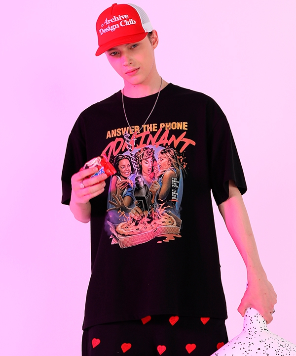 [dominant] ピザ オーバーフィットティーシャツ / DOMINANT PIZZA OVER FIT T-SHIRTS