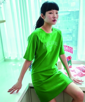 [FREAKISHBUILDING] 50-50 ショートスリーブワンピース / FIFTY-FIFTY SHORT SLEEVE ONE-PIECE