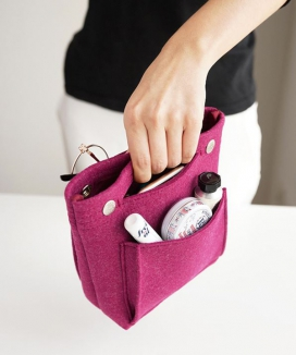 [INVITE. L] コンパクト フェルトバッグinバッグ / Compact Felt Bag In Bag