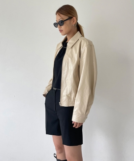 [NOTA] ナチュラルペーパー リンクルレザーアウター / NATURAL PAPER WRINKLE LEATHER OUTER